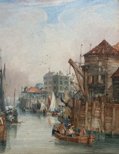 Ecole française du XIXe siècle  Vue de Londres...