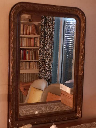 Trumeau miroir  110 x 80 cm  (accidents)