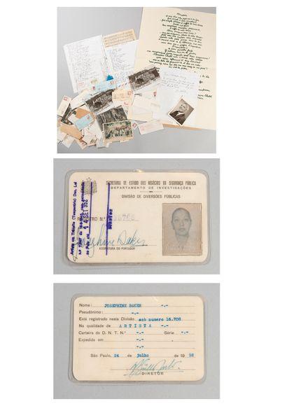 Joséphine BAKER (1906-1975)    Carte du secrétariat...