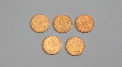 5 pieces de 5 dollars - Photo générique