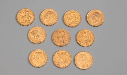 10 souverain or - Photo générique