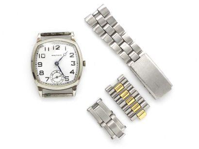 WALTHAM  Montre bracelet d'homme en acier,...