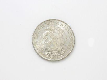 Pièce Mexicaine en argent de 25 pesos commémorant...