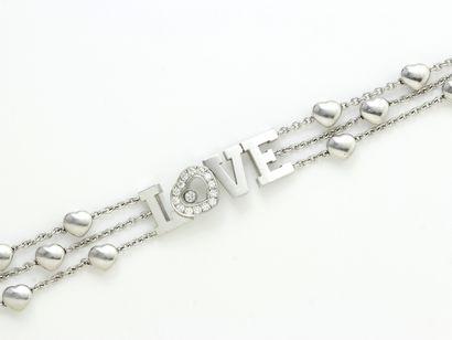 CHOPARD ''HAPPY DIAMOND''  Bracelet articulé...