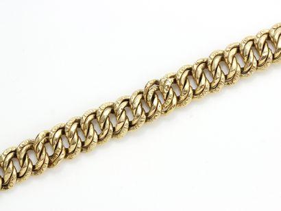 Bracelet en or, maille gourmette américaine,...
