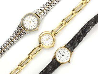 Lot composé de 3 montres bracelets de dame...