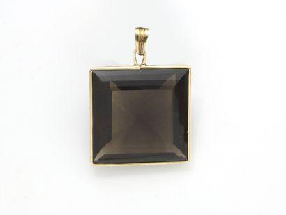 Pendentif en or 750 millièmes décoré d'un...