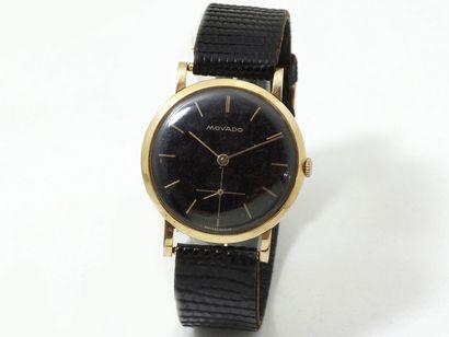 MOVADO  Montre bracelet d'homme en or 750...