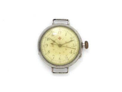 Montre bracelet en métal, cadran blanc siglé...