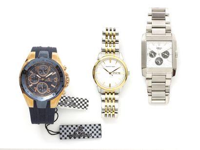Lot composé de 2 montres bracelets d'homme...