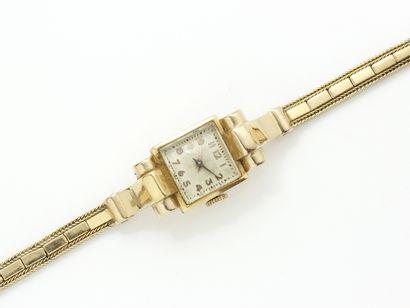 Montre bracelet de dame en or 750 millièmes,...