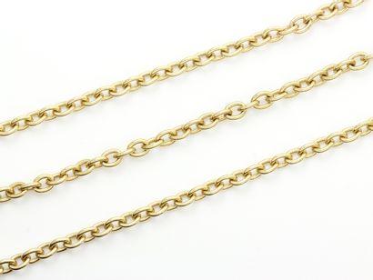 Chaîne en or 750 millièmes agrémentée d'un...
