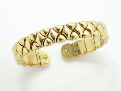 Bracelet jonc ouvert or 750 millièmes, sur...