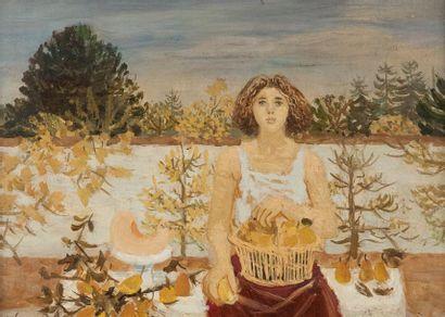 Roger CHAPELAIN-MIDY (1904-1992) Esquisse pour l?Automne, 47 Huile sur toile, signée...