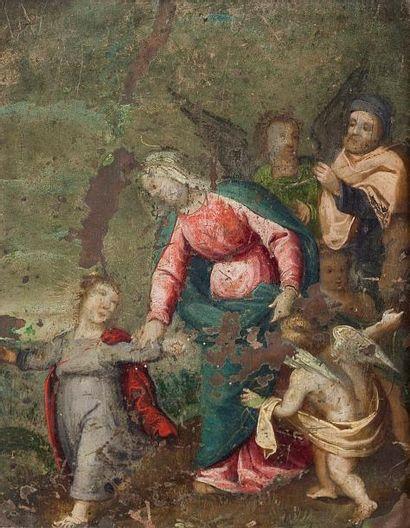 La Vierge Huile sur cuivre non signée 16...