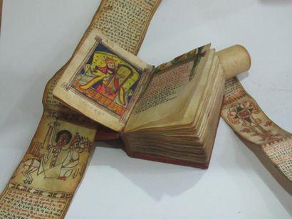 Bible On y joint deux rouleaux Art Copte,...