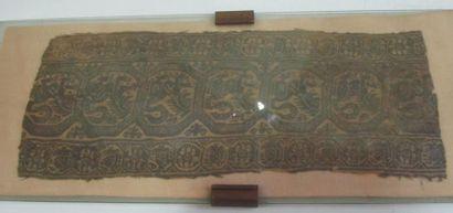 Fragment de tissu à décor de lions Art Copte...