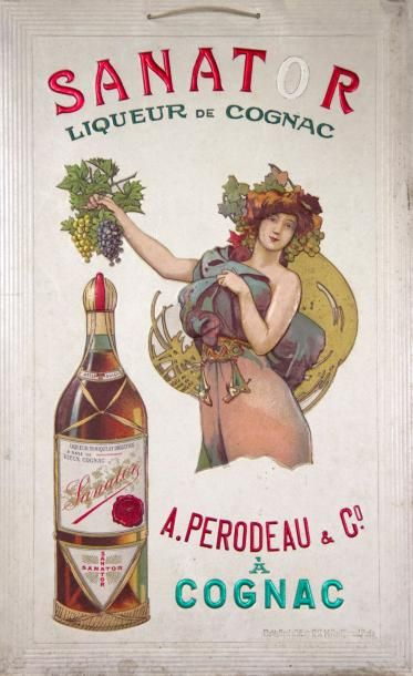 SENATOR - Carton publicitaire gaufré, Liqueur...