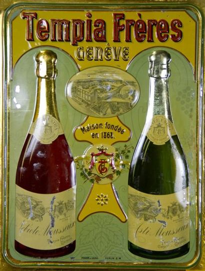 TEMPIA FRÈRES GENÈVE - Plaque métal, Asti...