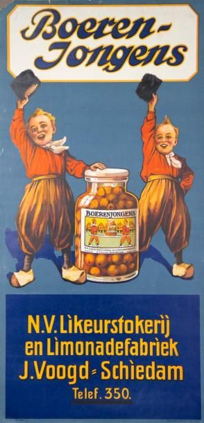 BOERENJONGENS - Carton publicitaire N.V.Likeurstokerij...