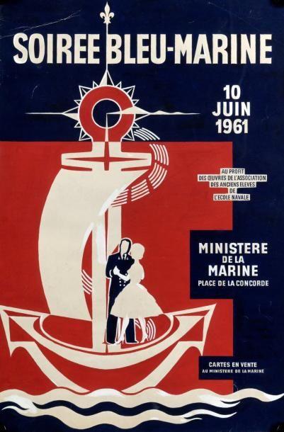 MINISTÈRE DE LA MARINE (10 Juin 1961) - «SOIREE...