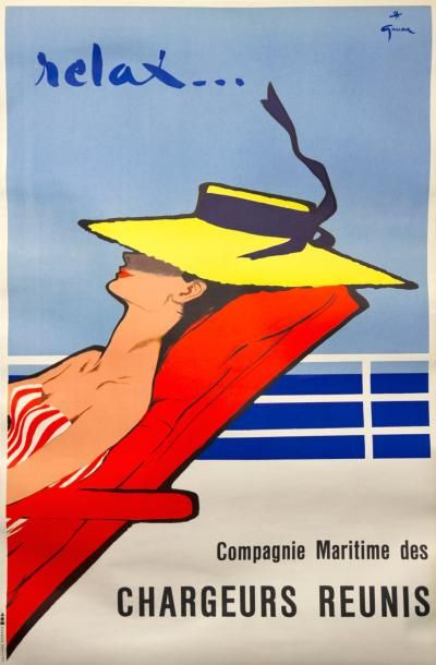 GRUAU (1950) - «Relax...» - Compagnie Maritime...