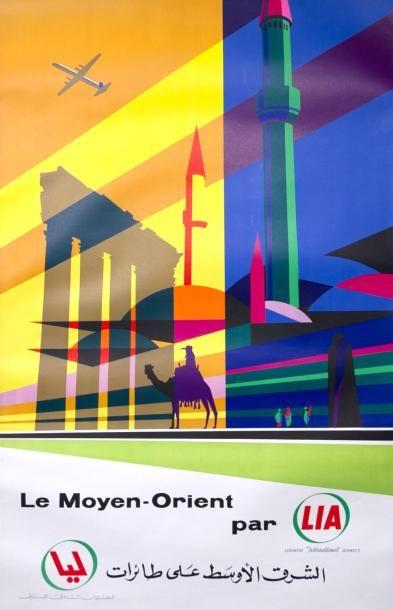 LIA (LIBANE INTERNATIONAL AIR LIGNE) : Affiche...
