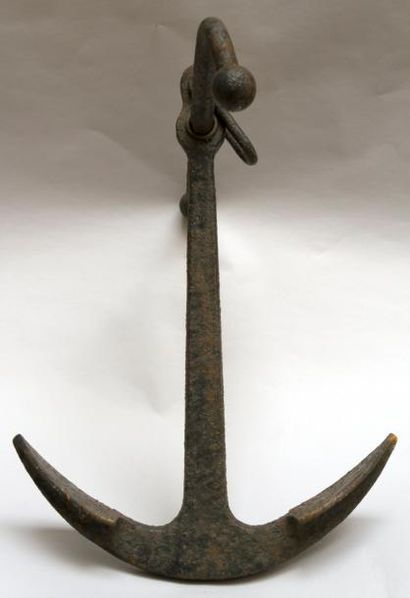 ANCRE À JAS. 62 cm x 45 cm.