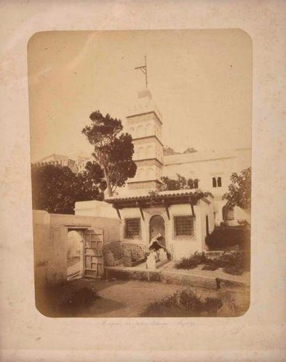 Jean GEISER (1848-1923) La mosquée du jardin...