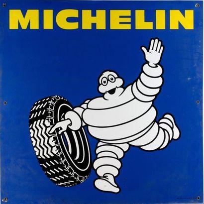MICHELIN - Plaque émaillée SMLF 82 sur fond...