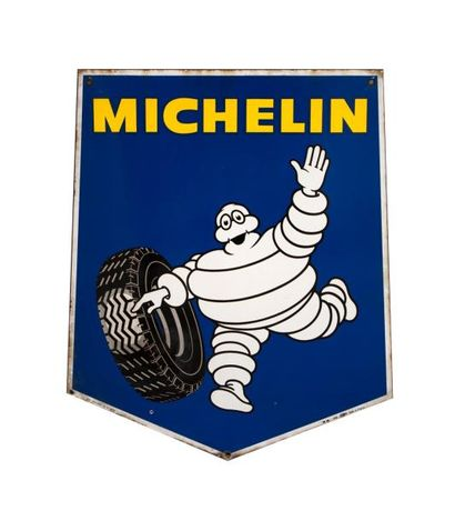 MICHELIN - Plaque émaillée biface S11HEXA...