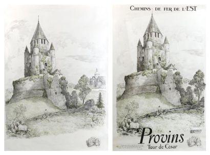 PROVINS (SEINE ET MARNE) - 2 affiches non...