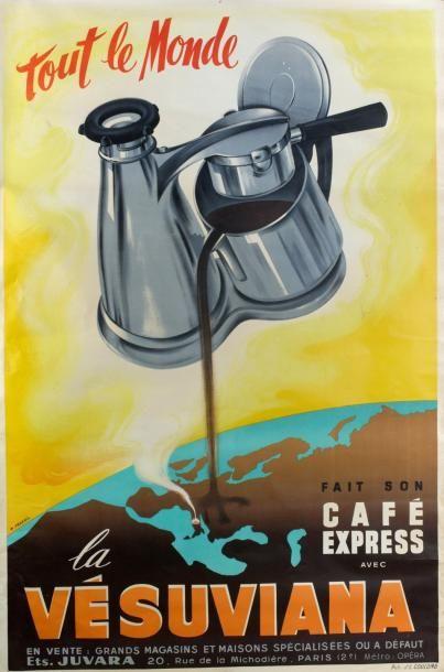 CAFÉ EXPRESS LA «VESUVIANA» - PEZERIL, Publicité...