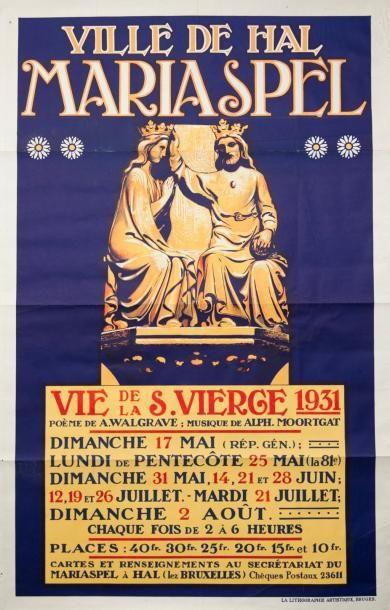 VILLE DE HAL MARIASPEL (1931) - La lithographie...
