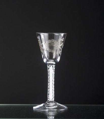 Verre en verre soufflé à la façon d'Angleterre,...