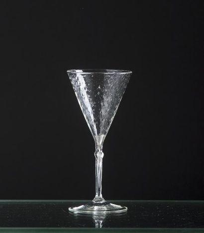 Verre de fougère en verre soufflé, la coupe...