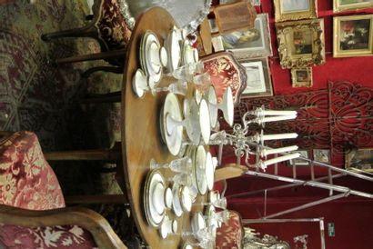 Table de salle à manger à rabats en acajou,...