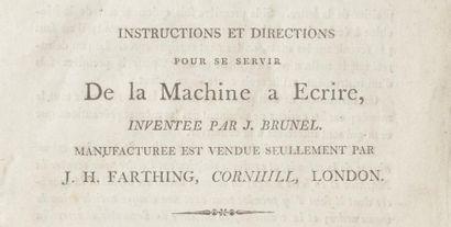 Marc-Isambart BRUNEL (1769-1849) Marc-Isambart BRUNEL (1769-1849) Ecritoire ou machine...