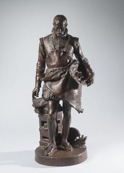 Louis Ernest BARRIAS (1841 - 1905) Bernard Palissy dans son atelier (L'ART DE TERRE)