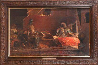 Ecole FRANCAISE du XIXe siècle d'après Benjamin CONSTANT Les Chérifas Huile sur toile....