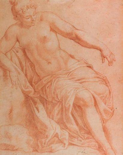 Ecole FRANCAISE du XVIIIe siècle, suiveur de François LE MOYNE Etude pour une Suzanne...