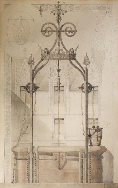 Ecole FRANCAISE du XIXe siècle, suiveur de Viollet le Duc