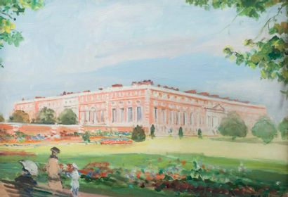 Jacques-Emile BLANCHE (1861-1942) June early morning, Hampton Court, 1929 Huile sur...