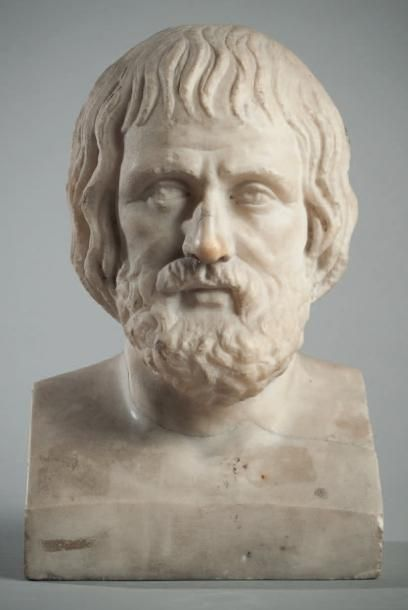 Buste de philosophe Portrait présumé Euripide...