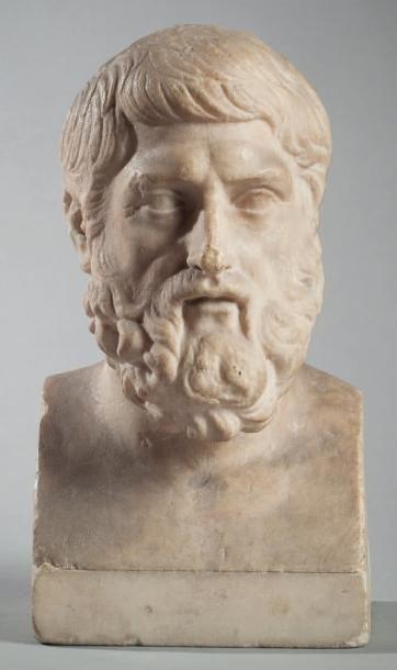 Buste de philosophe Portrait présumé d'Epicure...