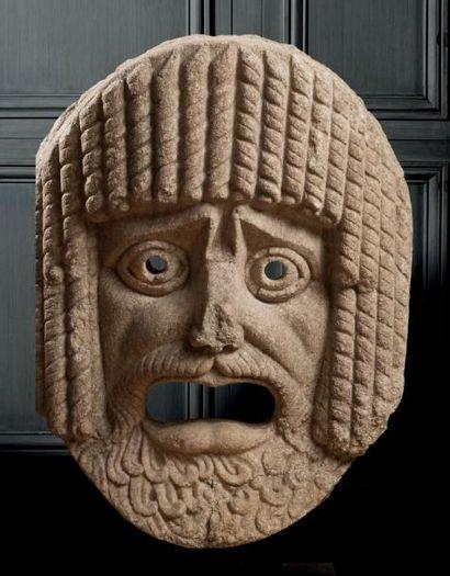 Très important masque Elément d'architecture...