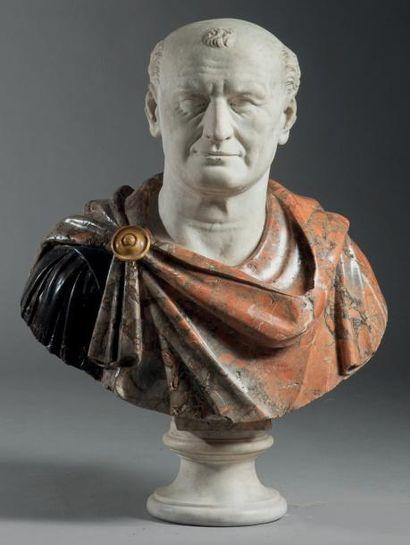 Buste figurant l'empereur Vespasien Marbre...