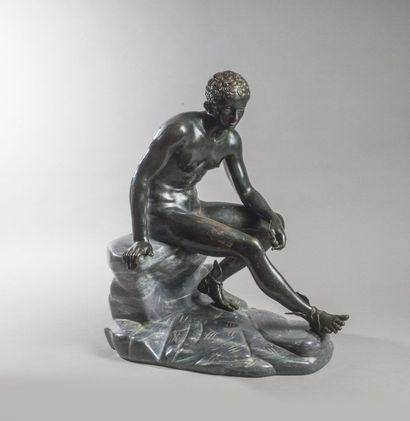 D'après l'antique. «Mercure assis» Epreuve...