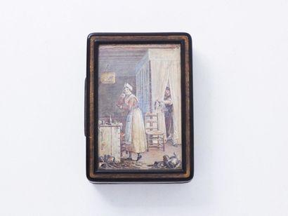 VIGNERON Pierre-Roch (1789-1872). Belle tabatière...