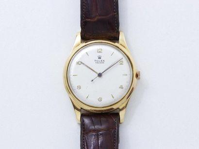 Montre bracelet d'homme en or 750 millièmes,...